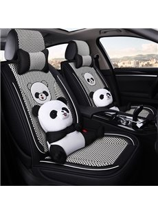 Cartoon Style Dogs, Pigs, Hamsters, Pandas, Bears Soft Comfortable And Breathable Universal Car Seat Covers