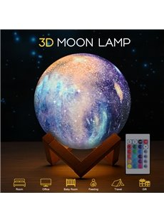 3D Printing LED Night Light Moon Lamp Touch Control USB Charging Gift
