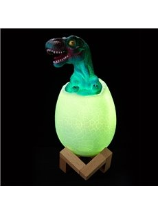 3D Night Light For Kids Baby Dinosaur Lamp With Smart Touch Remote Control