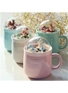 Forest Friends Mug Ceramic Mug With Lid Water Glasses Coffee Cup Coffee Mug