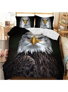 The Proud Owl Soft 3D Printed Polyester 3-Piece Bedding Sets/Duvet Covers