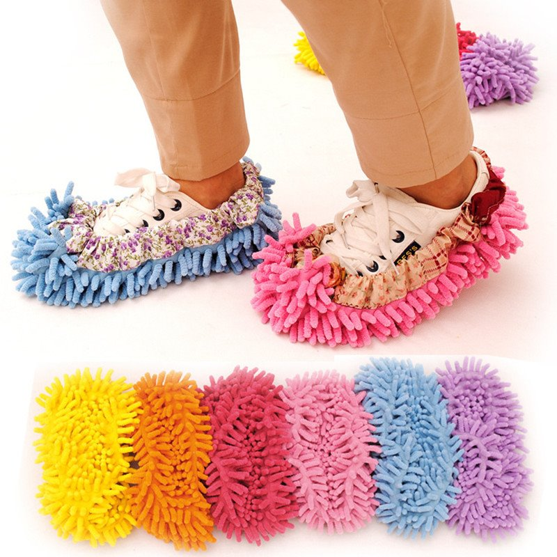 Chenille Creative Cleaning Shoe Cover Essential Household Products In Modern Families