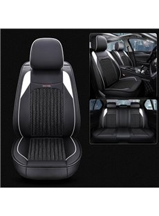 Simple Style Leather+Ice Silk Fiber Wear Resistant, Breathable Modern And Functional Clear Finish Truck Universal Fit Car Seat Covers