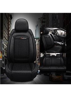 Country Style PU Leather+Ice Silk Materials Breathable Comfortable Airbag Compatibility Universal Truck Seat Covers