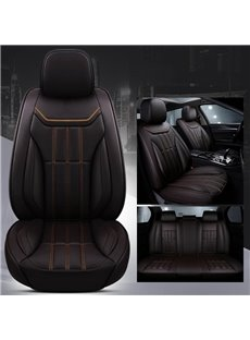 Sport Style Environment-Friendly Leather Material No Fading, Easy Cleaning, No Odor Truck Universal Fit Car Seat Covers