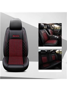 Simple Style Hard-Wearing Leather Three Dimensional Woven Ice Silk Breathable And Easy To Clean Truck Universal Fit Car Seat Covers