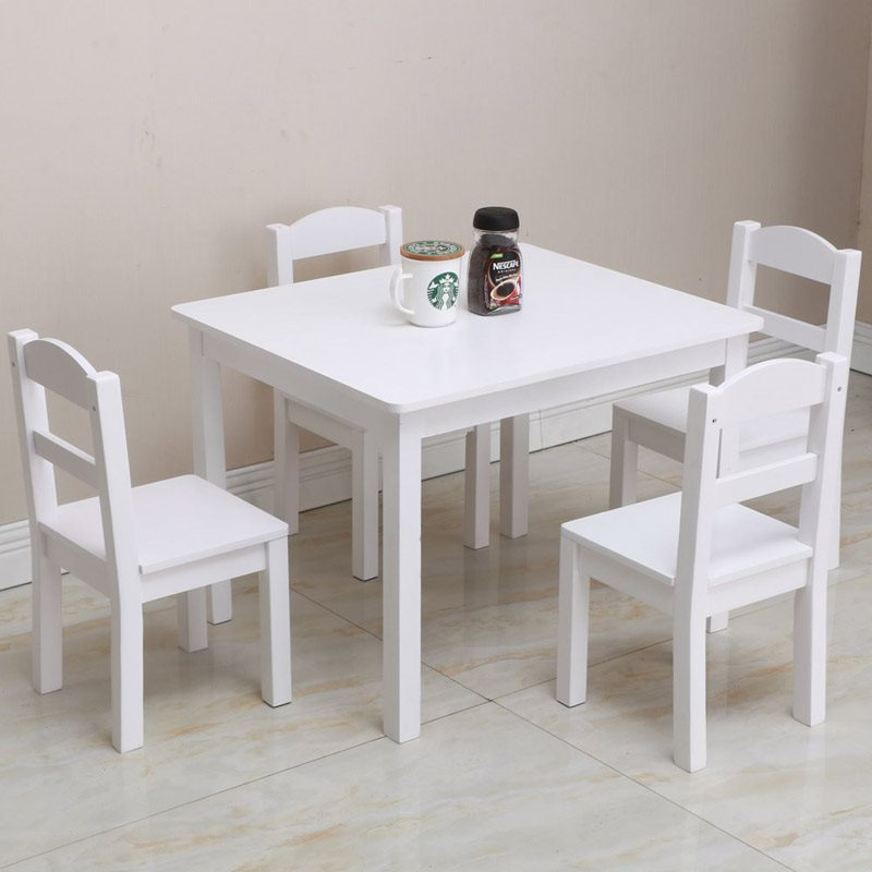 White Small Board Table Suitable For Bedroom, Living Room, Home Office , Eating, Playing, Reading And Writing Homework