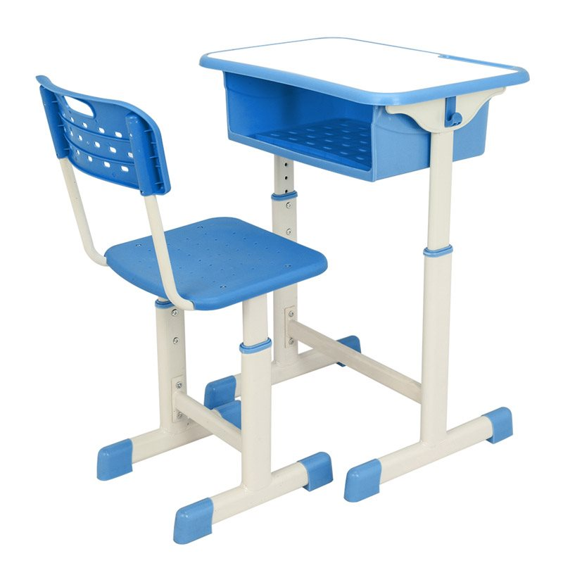 Adjustable Table And Chair, High Quality Metal, High Density Board Plastic, Durable, No Pollution And No Odor Stable, No Damage To The Floor
