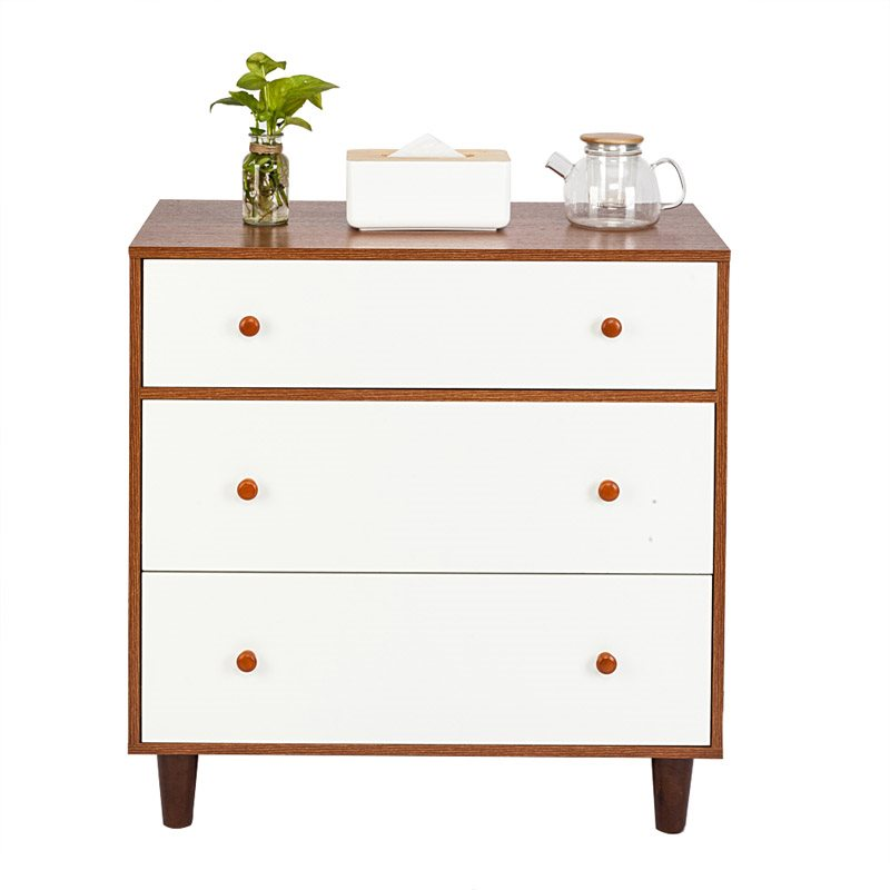 Solid Wood Nightstand,Features Stable, Sturdy And Durable Capacious And Bright Suit A Bedroom To Store Content