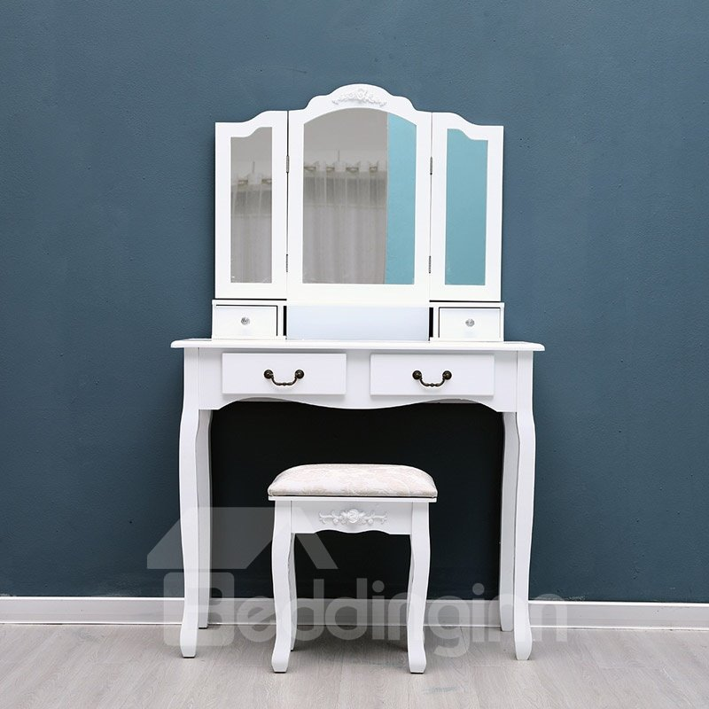 The Combined-Type Dresser Of White Contracted And Elegant Quality Wood Combination Durable And Odor-Free
