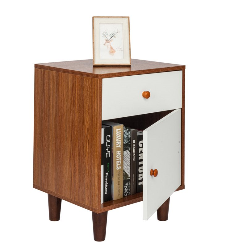 Simple Style Bedside Table Superior Stability Wood Material, Environmental Protection And No Pollution