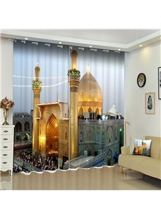 Architecture European Curtain Ultraviolet-Proof Blackout 3D Scenery Curtains