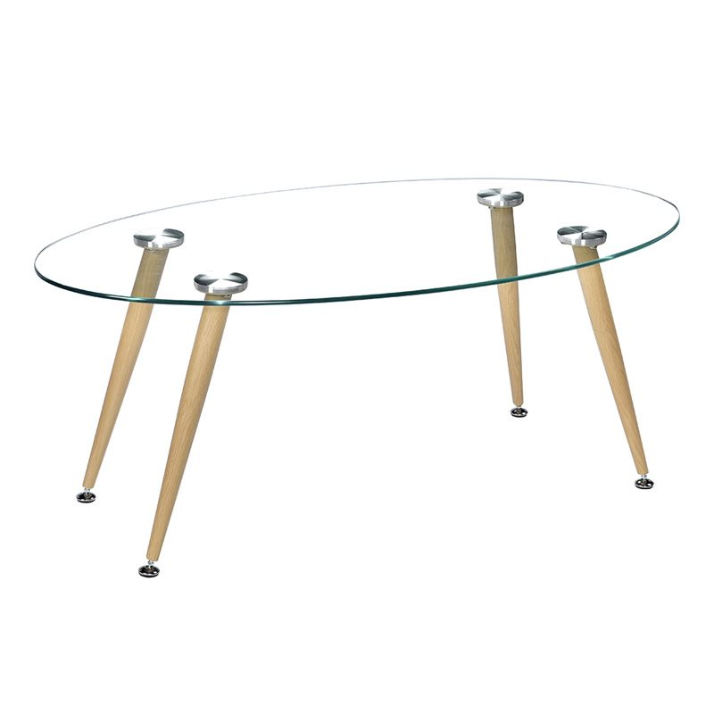 Simple Style Design Oval Coffee Table Is Suitable For Apartments, Homes Or Offices Durable And Safe