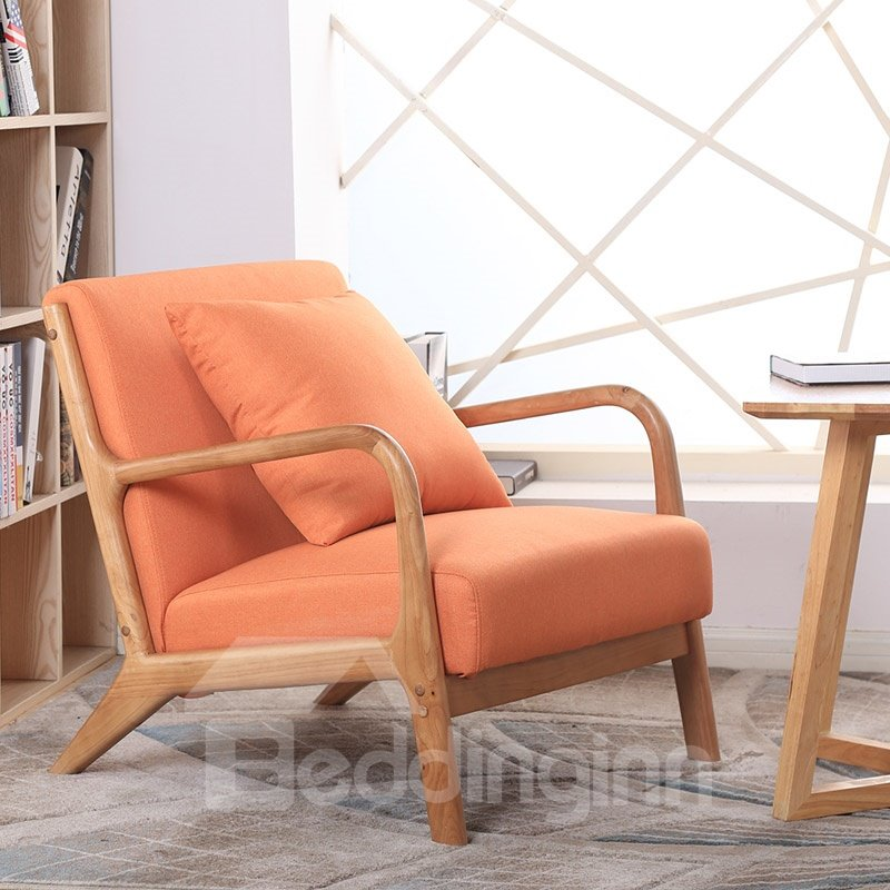 Mediaeval Style Lounge Chair Fits Multiple Scenes Oak Bracket Sponge Filling Light, Strong And Durable Easy To Clean