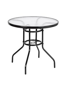 Steel Glass Outdoor Dining Table Special Material Against Severe Weather And Ensure Longer Service Life Easy To Assemble, Moment To Clean With Wet Cloth