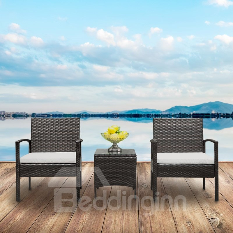 High Quality Cane Chair Sofa & Light Cane Table Environmental Protection And No Pollution Easy To Clean
