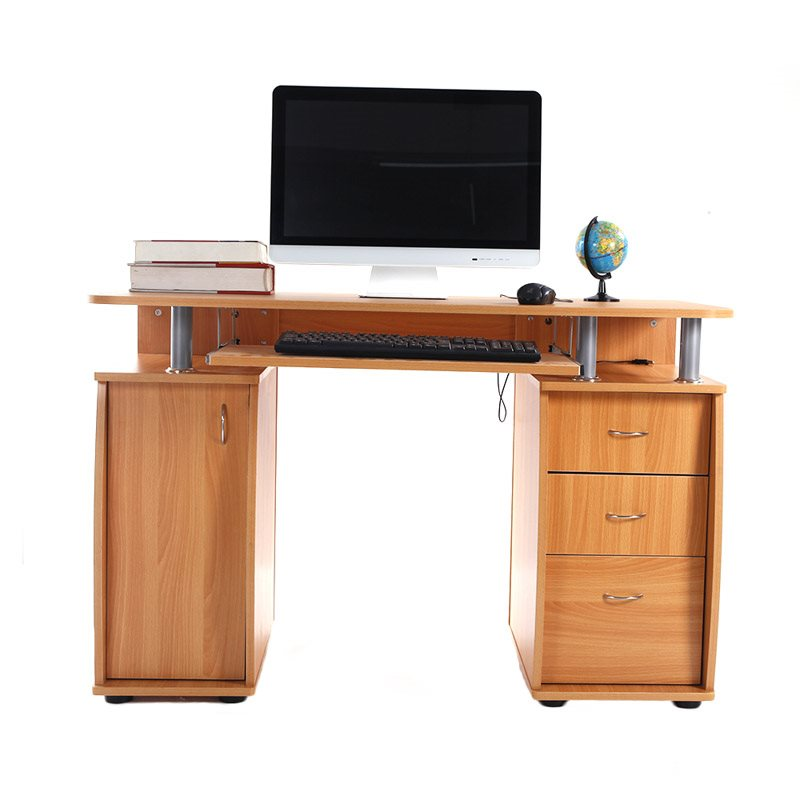 Portable And Fashionable Design 15MM MDF Portable 1PCS Door With 3PCS Drawers Computer Desk