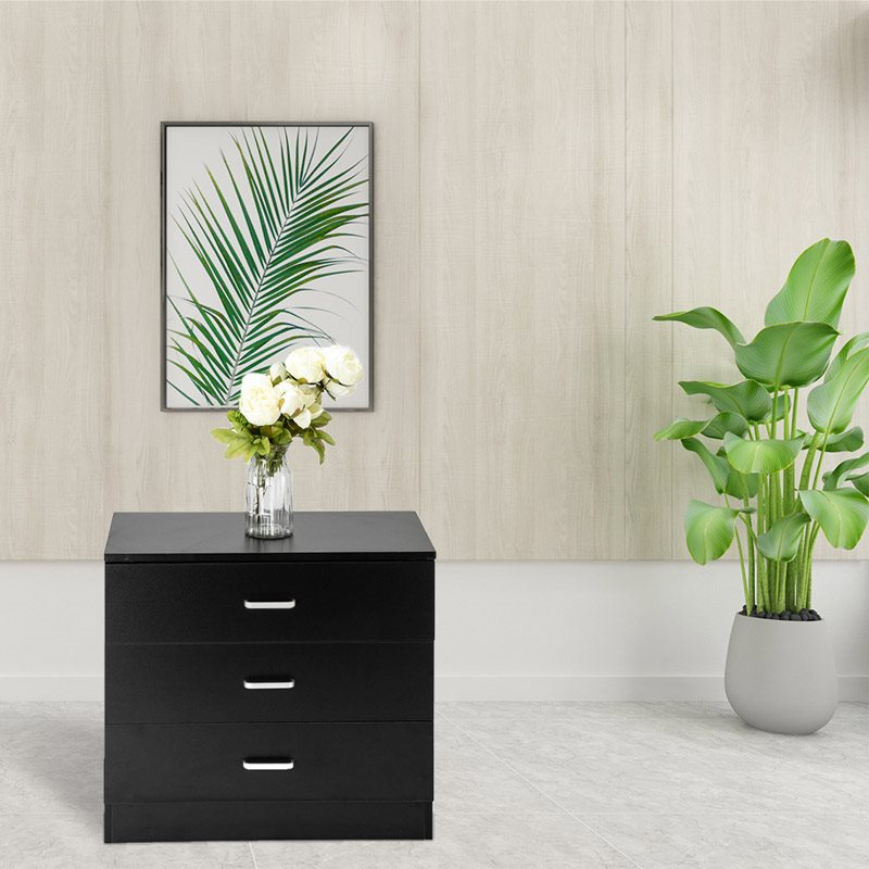 Wood Simple 3-Drawer Dresser High Quality P2 Wood Material Durable And Non-Toxic Elegant, Fine Workmanship, Beautiful And Fashion