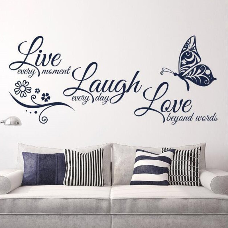 Live Laugh Love The Alphabet Stickers Easy To Tear And Stick DIY Wall Sticker
