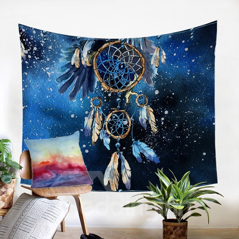 Decorative   Tapestry   Double   Hang   Blue   Wall