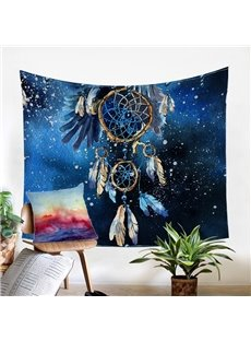 A Double Blue Dream Catcher Decorative Hanging Wall Tapestry