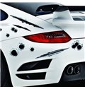 3D Emulational Bullet Holes And Wolverine Claw Marks Car Stickers