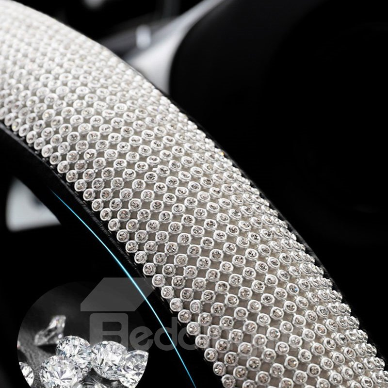 Colorful Incomparable Luxurious Sparkling Top Quality Rhinestone Steering Wheel Cover