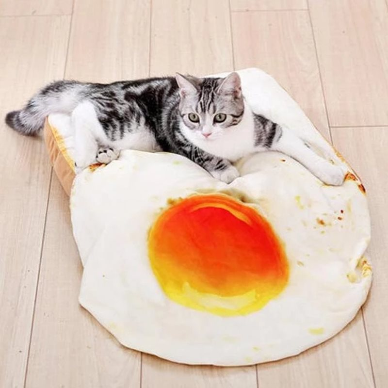 Poached Egg Pet Mat Cats and Dogs Blanket