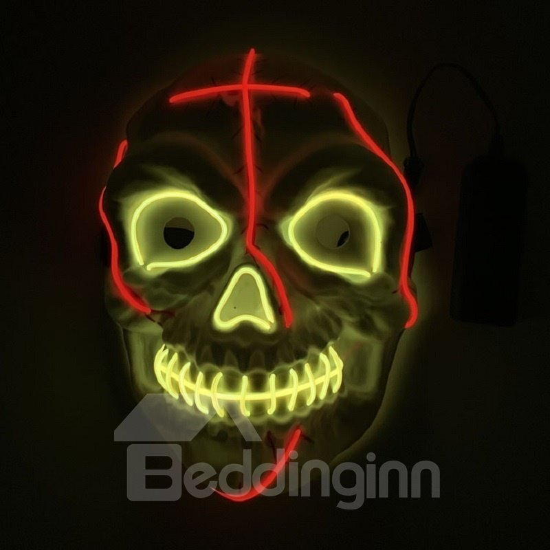 Clubbing Light Up Stitches LED Mask Costume Halloween Rave Cosplay Party Xmas