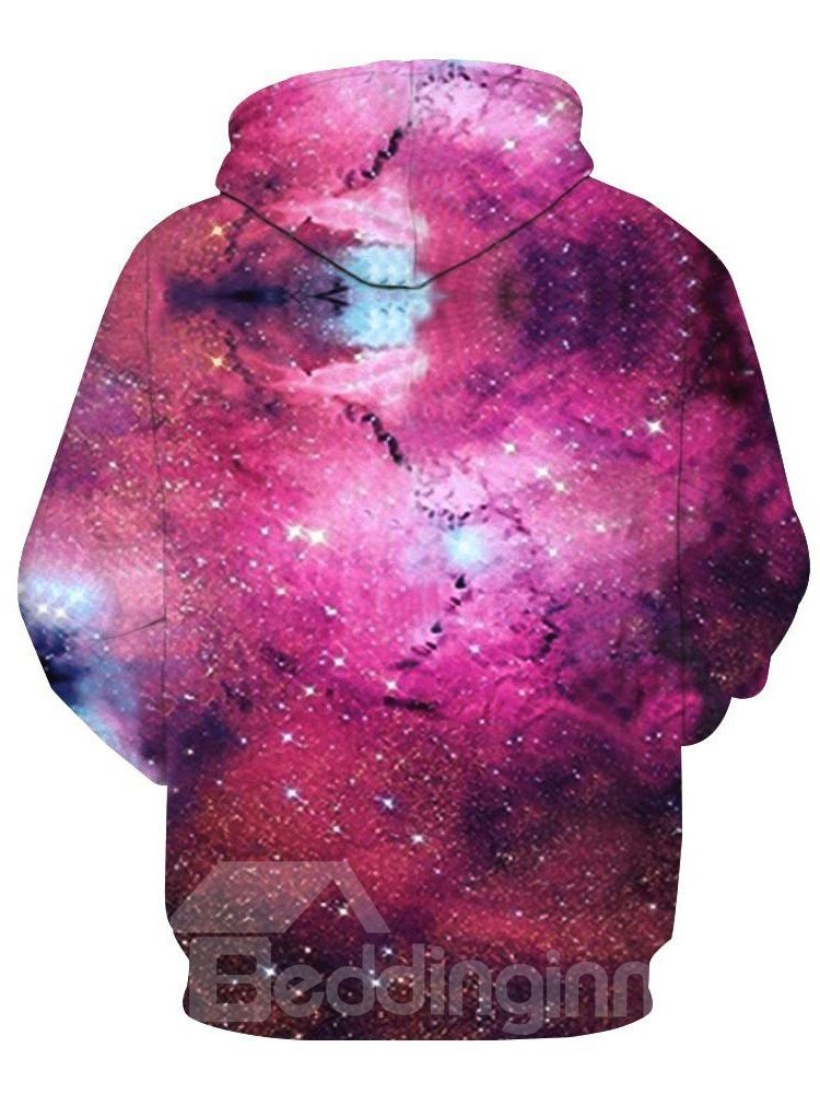 Long Sleeve Dream Galaxy Colorful Pattern 3D Painted Men