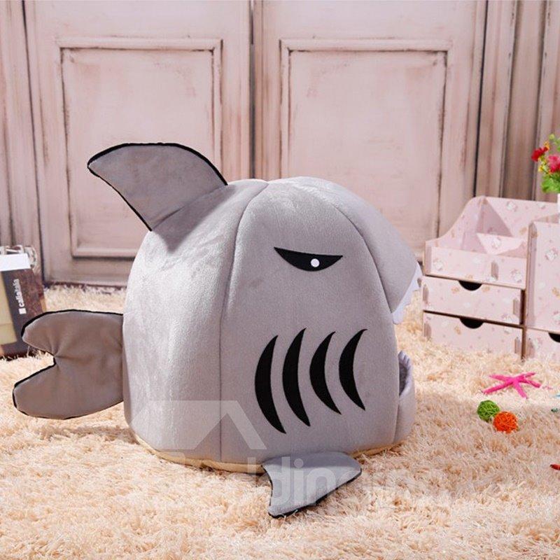 Soft Shark Pet Dog Cat House Bed Basket Pet Sleeping Nest Mat Sleep Bag Blanket