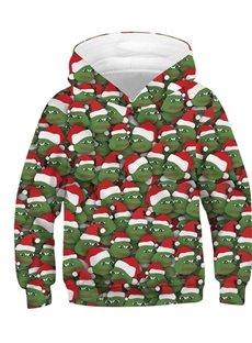 Funny Joker Christmas Frog Printed 3D Sweatshirt Sportswear Kid's Hoodies