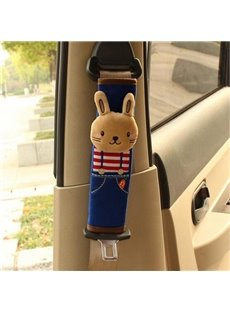 Cartoon Style Cute Animal Pattern Seat Belt Pads, Environmental Friendly Material, Non-Toxic, No Pollution, No Fading