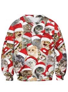Christmas Unisex Kids Soft Hoodies 3D Printed Novelty Pullover Hooded Sweatshirts