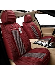 Simple Style Linen Material Environmentally Friendly Tasteless Breathable And Colorfast 5 Seats Universal Truck Seat Covers