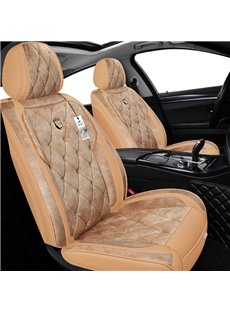 Warm Colour Tone Pure Color Design Elegant Noble Luxurious 5 Seats Truck Universal Fit Seat Covers