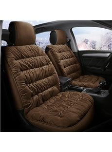 5 Seats Princess Style Coral Fleece Material Warm Soft Breathable For Winter Universal Fit Seat Covers