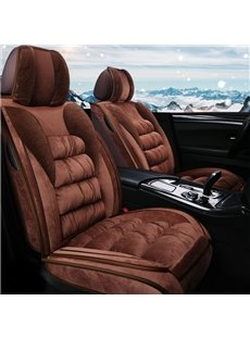 Elegant And Luxurious Flannel Material Warm Breathable For Winter Universal 5-Seater Covers