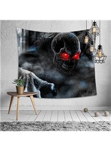 Halloween Theme Red-eye Skeleton Decorative Hanging Wall Tapestry