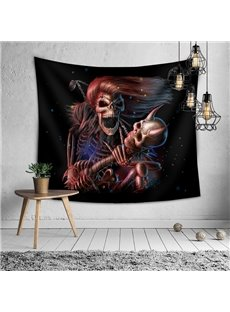 Halloween Long-haired Skeleton General Decorative Hanging Wall Tapestry