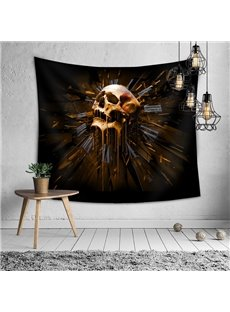 The Skeleton Clock of Fate Halloween Decorative Hanging Wall Tapestry