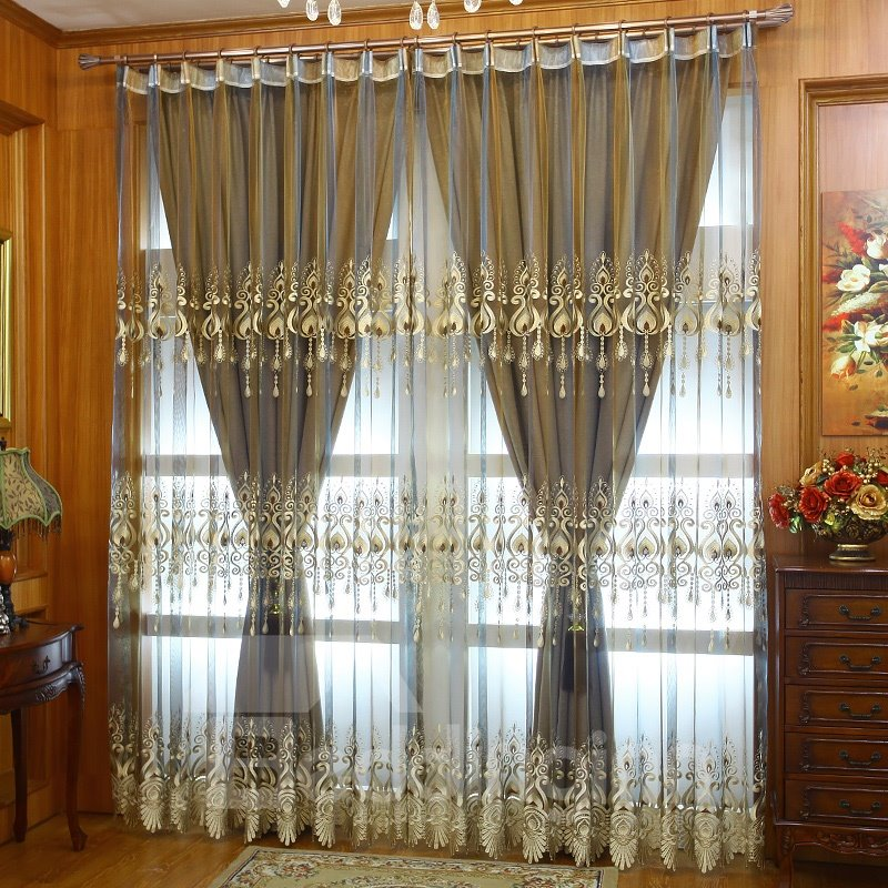 Upscale Polyester Cotton Organza European Classical Pic