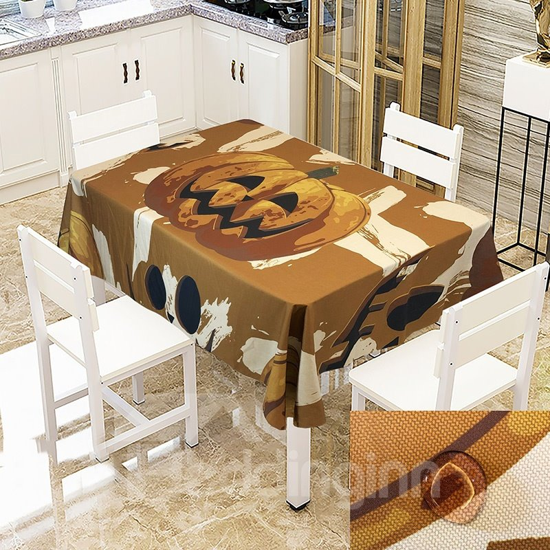 Pumpkin Ghost Castle And Witch Printing Pattern No Pilling No Fading No Off-lining Halloween Theme 3d Tablecloth