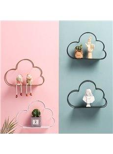Cloud Shape Design Iron Shelf Sitting Room Bedroom Wall Decoration Storage Holders & Racks