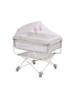 Folding Infant Outdoor Travel Bed Safe Healthy Baby Crib with Roller