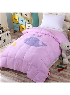 47''x 59'' Cartoon Whale Cotton Kid/Baby Quilts Indeformable Soft Skin-friendly Duvet