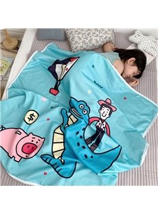 Cartoon Gauze Cotton Blanket Air Conditioning Blanket Nap blanket for Girls and Boys