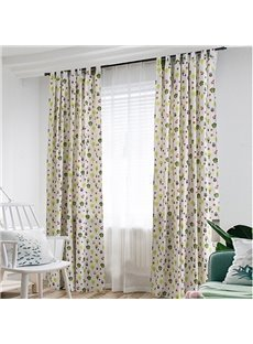 Cartoon Trees Kids Curtain Cotton and Linen Half-shade Curtain Price for 1 Piece
