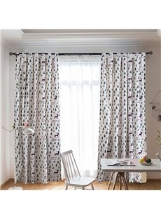 Cartoon Pine Trees Kids Curtain Cotton and Linen Half-shade Curtain Price for 1 Piece