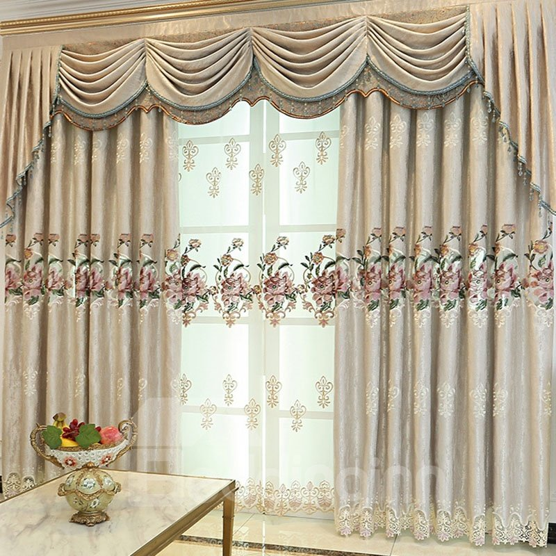 Embroider | Blackout | Curtain | Custom | Room | Live